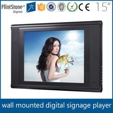 Flintstone 15 inch video player, pos retail display, tv mounted on the wall