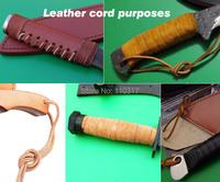 2 метра воловьей кожи веревку, натуральная кожа материал нож ручки, для diy нож ручки или нож для темляка
