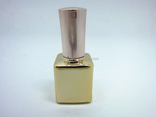 New design custom made bottle electroplate nail polish bottle color coating bottle