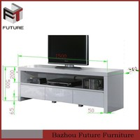 Modern unique high gloss white MDF wood TV table TV stand pictures