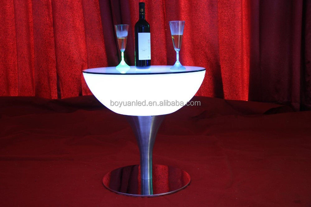 Led furniture lighting led cocktail table for coffee shop for Cocktail tables led