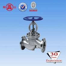 Acero al carbono rueda manual de válvulas de globo DN40