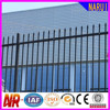 Residential steel tube wrought iron fence with top spear