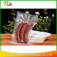 custom highgrade transparent plastic vacuum bags for food