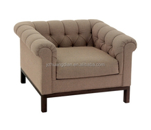 Upholstered love seat with rolled arm sofa chair YG143