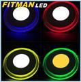 Cer rohs ac85-265v 15w runde panel doppelt farbe led-licht panel lampe