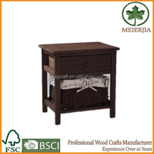 small home furniture straw drawers raw wood chest