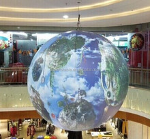 advertising inflatable world globe balloon for ceiling decoration