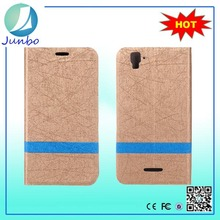 New design leather cover flip case for huawei ascend g610