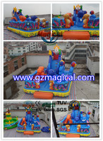 inflatable 0.55mm creative fashion bouncer/new Chinese inflatable Jesus stair slide bouncer