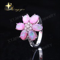 Antique silver flower ring 925 silver ring for gift XYR300326-P