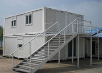 Heat and cold insulated easy assemble prefab container living house