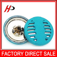 Wholesale fashion bulk 35L 22mm round white plating cover buttons kits for kids clothing