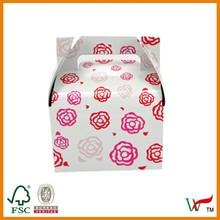 Gable cupcake boxes flat packaging
