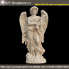 High Quanlity Beige marble statue, large angel statue