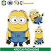 Minions paper sticker label printing manufacture in guangzhou