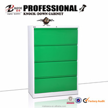 Modern office furniture four drawers KD structure steel filing cabinet