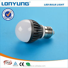 High luminous 2700-6500k 3W led bulb cost savings calculator with SAA TUV CE RoHs 3 years warranty