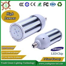 5 Years warranty High Bright CRI led corn lamp 27w 36w 45w 54w new led corn lamp e27/e40 base 360degree 45w oem design