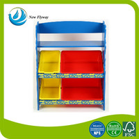 baby products oblong MDF+Metal tubes kids ikea storage cart drawers