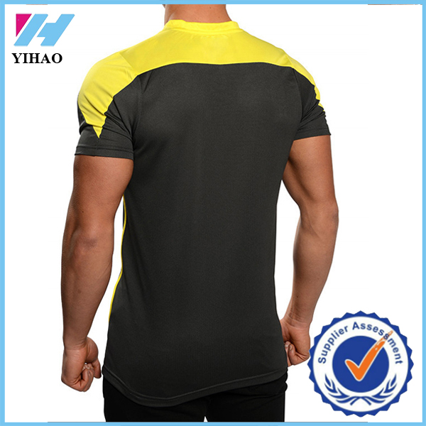 Yihao Wholesale Dry Fit T Shirt Mens Running Fitness