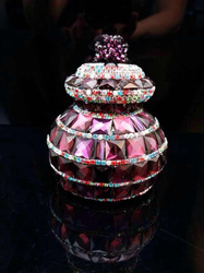 Fashion luxury crystal car air freshener glass bottle FACTORY BEST SELL