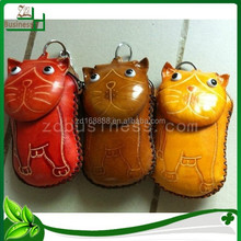 promotional leather coin bags for animal shaped genuine leather coin purses