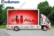 2012 Hot sale P16mm fullcolor mobile truck outdoor led clock temperature display for Rental and advertising