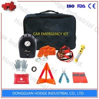 2015 hot sales cheap car tool emergency kit with warning triangle