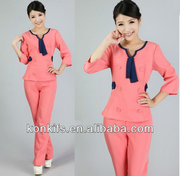 Women uniform for beauty salon buy women beauty salon for Spa uniform indonesia
