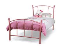 Colorful powder coating single metal bed