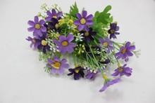 High quantity purple mini artificial flowewr bouquets for sale for wedding decoration bouquet wholesale silk flower
