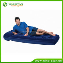 Item No 67223-B15 Description EASY INFLATE FLOCKED AIR BED/SINGLE Product Size 185*76*22CM Material PVC+flocked Color blue Packi