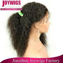 elastic band brazilian hair glueless full lace wig wholesale cheap human hair full lace wig Afro kinky brazilian human hair wigs