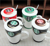 new product high quality Starbucks coffee cups embossed with a lid and spoon