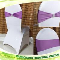 Wedding Chair Crystal Buckle Coral Chair Sashes JC-CS17