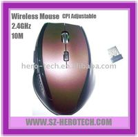Comfortable 2.4GHz wireless optical mouse