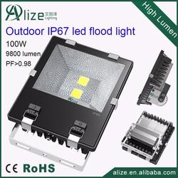Ultra slim IP67 waterproof outdoor 100 watt led flood light