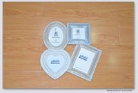 Cheap white color all kinds of shapes combined photo frame with the same pearls for christmas decoration