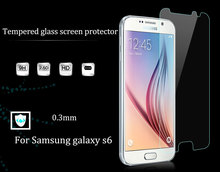 HUYSHE 9h hard glass protector anti-scratch tempered glass screen protector for samsung s6 holographic screen protector