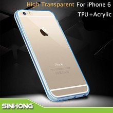 Ultra Thin Crystal Transparent Acrylic TPU Clear Case For iPhone 6 6 Plus