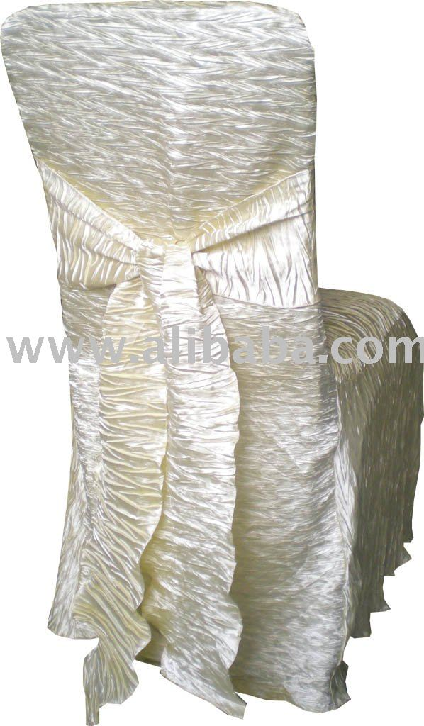 crinkle wedding chair covers