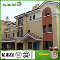 Acrylic stone effect exterior house paint