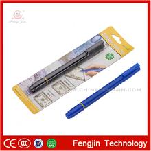 Nouvelle conception de la lumière uv stylo détecteur d'argent