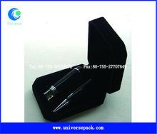 popular custom Black velvet packing box