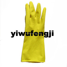 50g yellow flocking natural latex gloves household cleaning latex gloves comfortable gloves Manufacturer supply