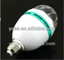 3W cost effective rotating lighting bulb
