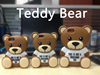 2015 Hot sale Teddy bear Cell Phone Case Fashion 3D Cute Cartoon Mobile Phone Silicone Case For iPhone 6/6plus Samsung Wholesale
