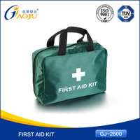 With 16 years manufacture experience economical standard first aid kit with high visibility warning vest