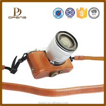 customized from China factory leather camera case for canon s110